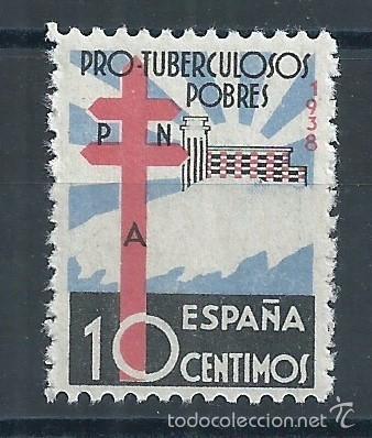 R9.G1/ ESPAÑA EN NUEVO** 1938, EDF. 866, CAT. 18€ BIEN CENTRADO 30€, PRO TUBERCULOSOS (Sellos - España - Guerra Civil - De 1.936 a 1.939 - Nuevos)
