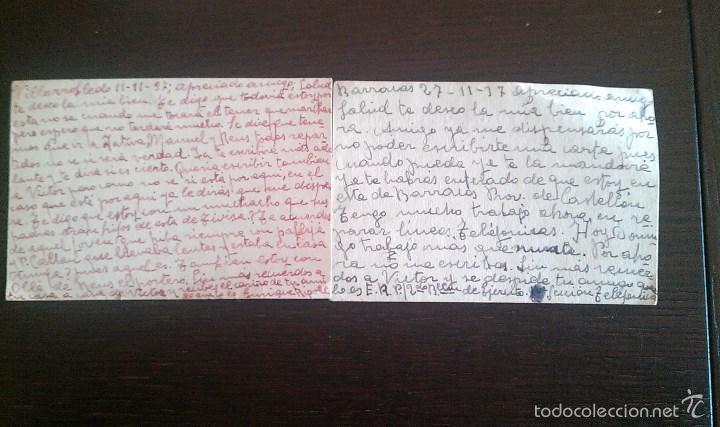 Sellos: 1937 TIVISA TIVISSA VILLAROBLEDO ALBACETE LOTE DOS TARJETAS POSTALES DE CAMPAÑA GUERRA CIVIL - Foto 2 - 56857486