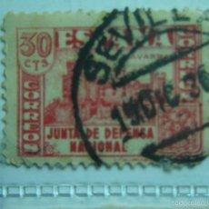 Sellos: 30 CENTIMOS JUNTA DE DEFENSA NACIONAL NAVARRA. Lote 56948579