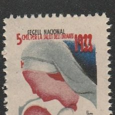 Sellos: SEGELL NACIONAL.PRO-INFANCIA .AJUT.1933. .5CTS. **. MNH (21-316). Lote 56955776