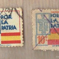 Sellos: POR LA PATRIA - 10 CTS. - ASTURIAS - FOURNIER. Lote 57394477