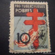 Sellos: SELLO PRO TUBERCULOSIS POBRES 10 CTS.. Lote 57694556