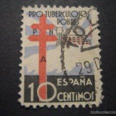 Sellos: SELLO PRO TUBERCULOSIS POBRES 10 CTS.. Lote 57694607