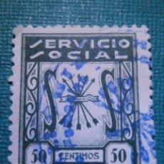 Sellos: SELLO - ESPAÑA - BENEFICENCIA - SERVICIO SOCIAL - 50 CÉNTIMOS - VERDE -. Lote 57727553