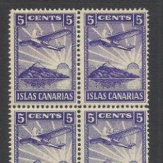 Sellos: ISLAS CANARIAS 5 CTS NUEVO** BLOQUE DE 4. Lote 220829093