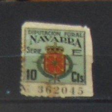 Sellos: DIPUTACION FORAL DE NAVARRA 10 CTS, SERIE E.. Lote 57980335