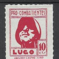 Selos: LUGO SUBSIDIO PRO COMBATIENTES 10 CTS NUEVO(*) PAPEL BLANCO. Lote 58135000