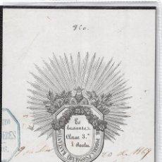 Sellos: FISCALES.- BURGOS 1869.- BASTANTEO DE PODERES 3ª CLASE. Lote 58290866