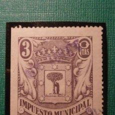 Sellos: SELLO - FISCAL - IMPUESTO MUNICIPAL - MADRID - 3 PESETAS - TIMBRE - . Lote 58354166