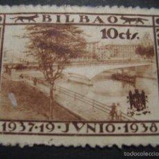 Sellos: SELLO GUERRA CIVIL BILBAO 10 CTS. 19 JUNIO 1937 - 1938. Lote 58388516