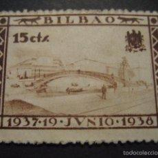 Sellos: SELLO GUERRA CIVIL BILBAO 15 CTS. 19 JUNIO 1937 - 1938. Lote 58388520