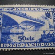 Sellos: SELLO GUERRA CIVIL BILBAO 50 CTS. 19 JUNIO 1937 - 1938. Lote 58388536