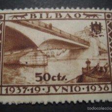 Sellos: SELLO GUERRA CIVIL BILBAO 50 CTS. 19 JUNIO 1937 - 1938. Lote 58388541