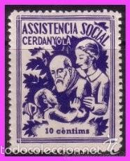TC9-5 CERDANYOLA - ASSISTENCIA SOCIAL FESOFI Nº 2 SIN FIJASELLOS (Sellos - España - Guerra Civil - Viñetas - Nuevos)
