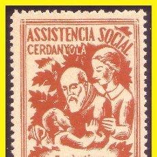 Sellos: TC9-5 CERDANYOLA - ASSISTENCIA SOCIAL FESOFI Nº 1, CON Nº EN EL REVERSO SIN FIJASELLOS. Lote 58489697