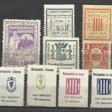 Sellos: 7662-LOTE SELLOS LOCALES ,VIÑETAS,ESPAÑA GUERRA CIVIL,2ª REPUBLICA.ORIGINALES,NUEVOS MNH,ALTO VALOR.. Lote 58508521