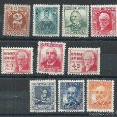 Sellos: R7.G4 / CIFRAS Y PERSONAJES, CAT. 42€, 1936/38, EDF. 731/40, NUEVOS** S/F. Lote 59452243