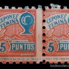 Sellos: A3-6 CUPONES FEMINA DE AHORRO COMERCIAL. Lote 60039627