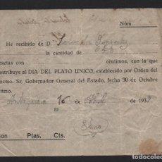 Sellos: ANTEQUERA - MALAGA, 0,50 PTAS, DIA DEL PLATO UNICO, TIPO 1,. VER FOTO. Lote 61390767