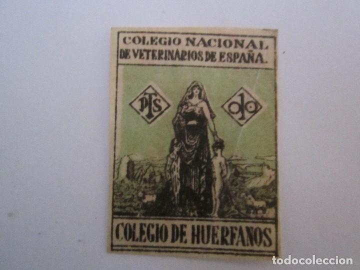 SELLO COLEGIO NACIONAL DE VETERINARIOS (Sellos - España - Guerra Civil - Beneficencia)