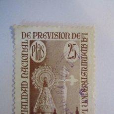 Sellos: SELLO MUTUALIDAD NACIONAL DE PREVISION 25 CENTIMOS . Lote 62996524