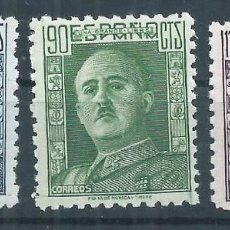 Sellos: R10/ GENERAL FRANCO /*/ CHARNELA, EDF. 999-1001, CAT. 10,50€. Lote 63001192
