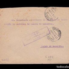 Sellos: *** ESCASA CARTA 1939 SAN FERNANDO-PALMA DE MALLORCA ENTRE FÁBRICAS DE ARTILLERÍA, RARA CENSURA ***. Lote 63014804