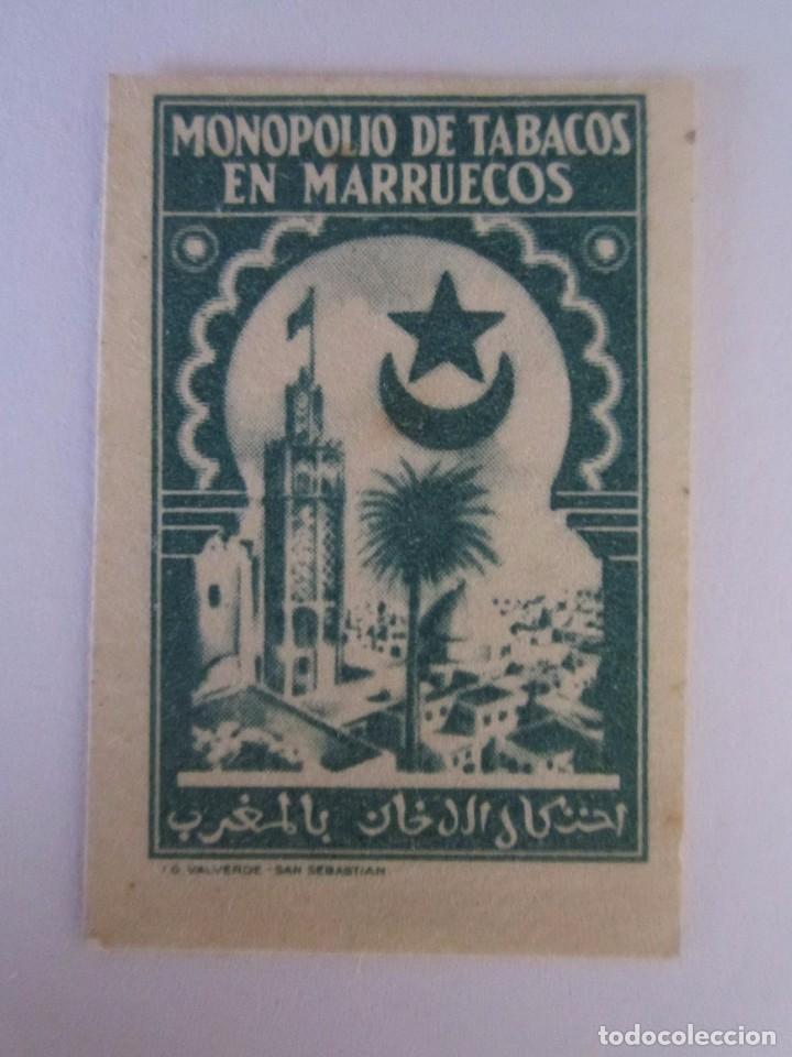 SELLO BENEFICENCIA MONOPOLIO DE TABACO MARRECOS ESCASO 5 CENTIMOS NUEVO (Sellos - España - Guerra Civil - Beneficencia)
