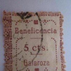 Briefmarken - SELLO BENEFICENCIA GALAROZA 5 CENTIMOS ESCASO - 63163592