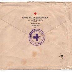 Sellos: LINARES, CRUZ ROJA, CARTA CIRCULADA A BARCELONA, 15 DICIEMBRE 1938, VER FOTOS. Lote 63297680