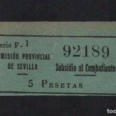 Sellos: SEVILLA, 5 PTAS, AUBSIDIO AL COMBATIENTE, VER FOTO. Lote 63302088