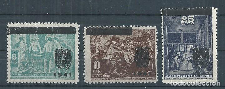 R61.G7/ CUADROS DE VELAZQUEZ 1941, EDF. 35/37, CAT. 9,90€, BENÉFICOS, SOBRECARGADOS, NUEVOS** S/F (Sellos - España - Guerra Civil - Beneficencia)