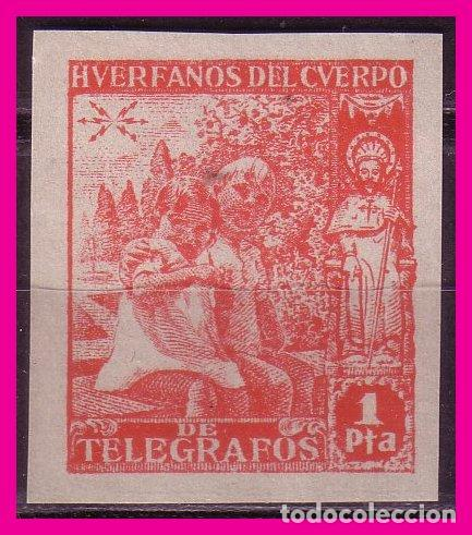 BENEFICENCIA 1938 NIÑOS Y SANTIAGO APÓSTOL, EDIFIL Nº 20S * * LUJO (Sellos - España - Guerra Civil - Beneficencia)