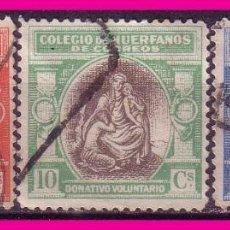 Sellos: BENEFICENCIA, HUÉRFANOS DE CORREOS, 1926 ALEGORÍA, EDIFIL Nº B1 A B3 (O). Lote 63615915