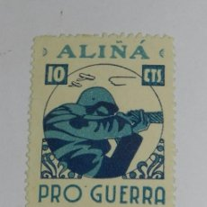 Sellos: ALIÑA PRO GUERRA 10 CTS. VIÑETA. Lote 63617815