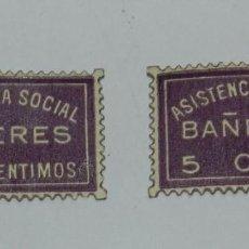 Sellos: VIÑETA. GUERRA CIVIL BAÑERES, ASISTENCIA SOCIAL . NUEVOS. Lote 63618787