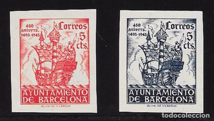 AYUNTAMIENTO DE BARCELONA. EDIFIL 49S/50S** (Sellos - España - Guerra Civil - De 1.936 a 1.939 - Nuevos)