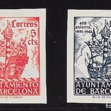 Sellos: AYUNTAMIENTO DE BARCELONA. EDIFIL 49S/50S**. Lote 63907775