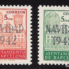 Sellos: AYUNTAMIENTO DE BARCELONA EDIFIL Nº SH 40/41**. Lote 63908963