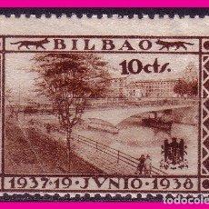Sellos: VIZCAYA BILBAO, GUERRA CIVIL, FESOFI Nº 18 (*). Lote 64856835