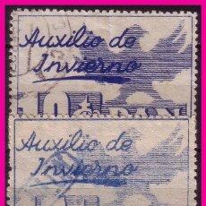 Francobolli: AUXILIO DE INVIERNO 1936 GÁLVEZ Nº 4 (O) VARIEDAD DE COLOR. Lote 65969194