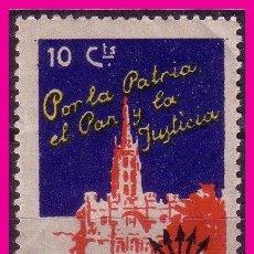Francobolli: FALANGE ESPAÑOLA, 1936 GÁLVEZ Nº 2 * *. Lote 66027638