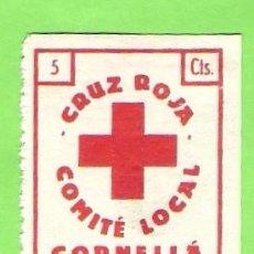 Sellos: CRUZ ROJA-CORNELLA.COMITE LOCAL. 5CTS.. Lote 66447838