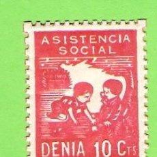 Sellos: VIÑETA. DENIA. ASISTENCIA SOCIAL. 10CTS. MUY BARATO. Lote 66490170