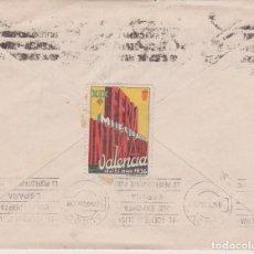 Sellos: VIÑETA XIX FERIA MUESTRARIO VALENCIA 1936 EN EL REVERSO DE SOBRE CIRCULADO 8 MAY 36. Lote 67356069