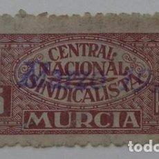 Sellos: RARISIMA CUOTA DE 5 PESETAS DE LA CNS DE MURCIA AÑO 1939 . Lote 67391425