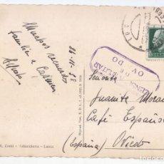 Sellos: POSTAL DE ITALIA A OVIEDO. ASTURIAS. AL CAFÉ ESPAÑOL. CENSURA MILITAR 1938. Lote 67418265