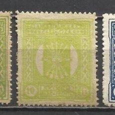 Sellos: 5131-3 SELLOS ESPAÑA GUERRA CIVIL FALANGE ESPAÑOLA JONS PARA EL FRENTE,ZARAGOZA,1937.JUNTA OFENSIVA . Lote 67581189