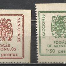 Sellos: 5144-SELLOS ESPAÑA GUERRA CIVIL VIÑETAS FOGÁS DE MONCLÚS LOCALS 0,50+1,50 PTS. STAMPS SPAIN CIVIL WA. Lote 67641849
