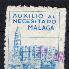 Sellos: GUERRA CIVIL SELLO LOCAL .AUXILIO AL NECESITADO MALAGA. 10CTS. LOT1-DIC2016. Lote 68815849